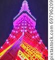 秋草彩色东京铁塔无限钻石面纱 69796209