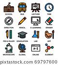 EDUCATION & SCHOOL ICON SET 69797600
