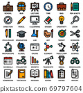 EDUCATION & SCHOOL ICON SET 69797604