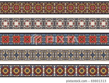 Seamless decorative borders 69801313