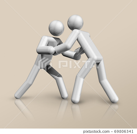 Wrestling 3D icon, Olympic sports 69806341