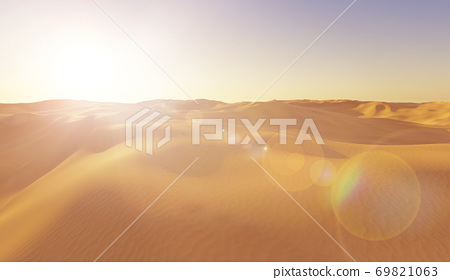 Sunset in the desert 69821063