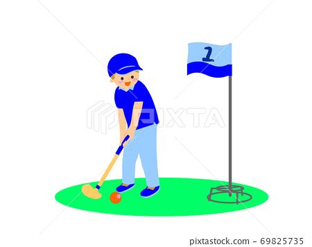 그랜드 골프를 즐기는 사람 69825735