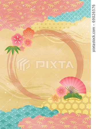 정월 일본식 디자인 69826576