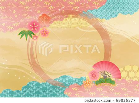 정월 일본식 디자인 69826577