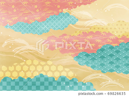 구름 설 일본식 디자인 69826635
