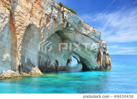 Blue caves on Zakynthos island - Greece 69830436