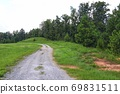 Beautiful rural landscape and dirt road 69831511