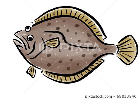 Hirame Hirame Hirame魚手繪 69833840