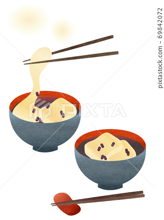 Illustration of soup powder of red bean paste 69842072