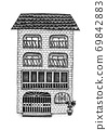 유럽풍의 멋진 집 69842883