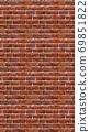 Vertical brown red brick wallpaper. Seamless pattern material 69851822