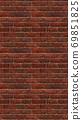 Vertical brown red brick wallpaper. Seamless pattern material 69851825
