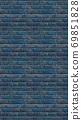 Vertical size blue brick wallpaper. Seamless pattern material 69851828