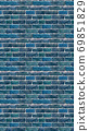 Vertical size blue brick wallpaper. Seamless pattern material 69851829