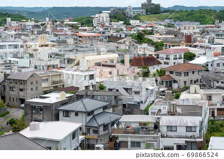 從首里城東側的阿扎那看那霸市的風景 69866524