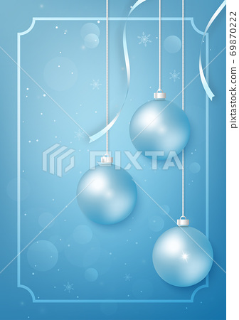 Merry christmas wish and happy new year. Festival celebration poster layout 69870222