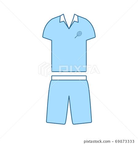 Tennis Man Uniform Icon 69873333