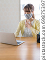 A young woman doing telework [Physical condition] 69875397