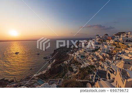[希臘]從聖托里尼島伊亞(Oia)舊城堡欣賞世界上最好的日落日落巡遊2 69879672