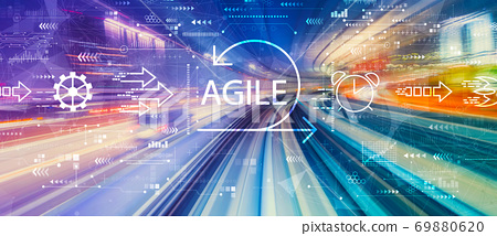 Agile concept with high speed motion blur 69880620