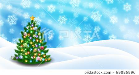 聖誕節雪冬天背景 69886996