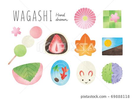 日本糖果水彩畫集 69888118