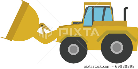 一個簡單的推土機的插圖 69888898