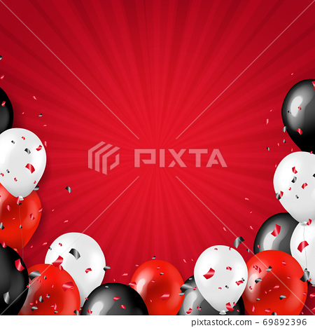 Black Friday Border With Balloons 69892396