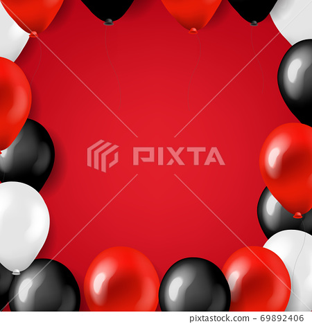 Black Friday Big Sale Card With Balloons 69892406