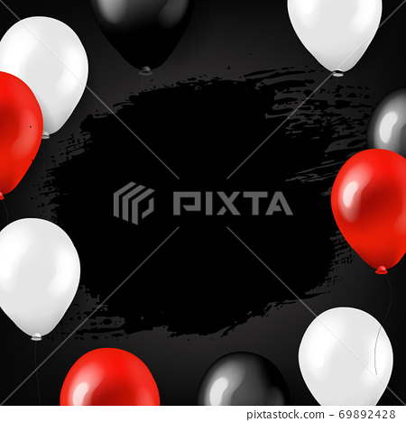 Black Friday Big Sale Poster With Balloons 69892428
