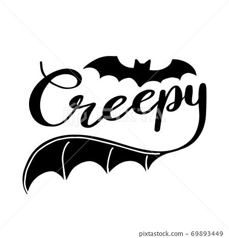 Creepy lettering 69893449