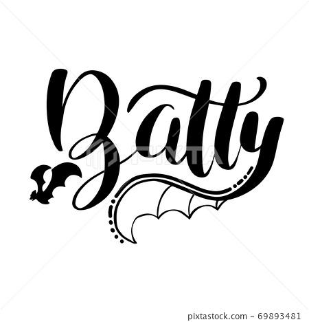 Batty lettering 69893481