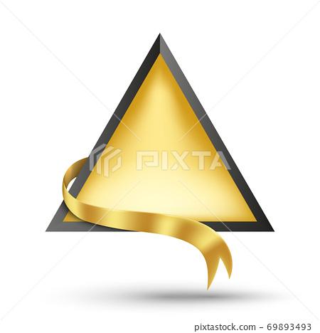 Gold billboard and gold ribbon 69893493