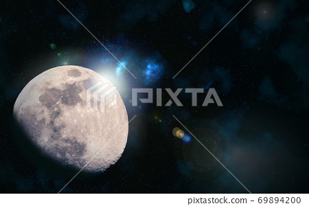 달 우주 배경 소재 이미지 69894200