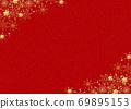 Snowflake background red gold powder 69895153