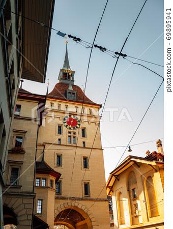 Bern old town Prison Tower Kafigturm in Switzerland 69895941