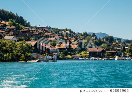 Spiez village and Thun lake in Switzerland 69895966