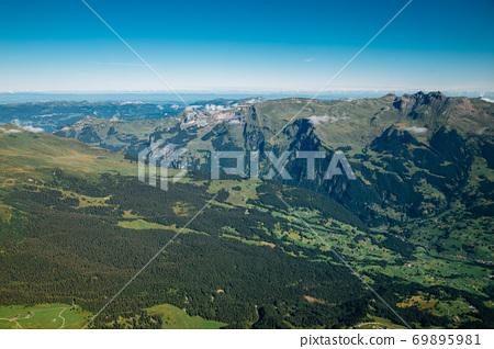 Mountain panoramic view of Jungfrau in Switzerland 69895981