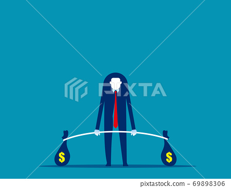 Business weightlifter. Investor and investment concept, Competition 69898306