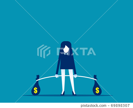 Business weightlifter. Investor and investment concept, Competition 69898307