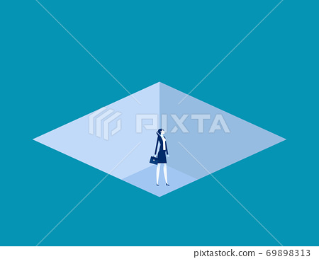 Business fell down in a trapped. Business trap concept 69898313