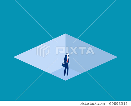 Business fell down in a trapped. Business trap concept 69898315