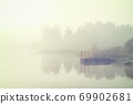 morning fog lake 69902681