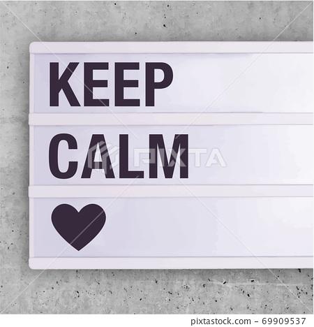 Social Media Sign Keep Calm Editable Square 69909537
