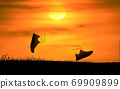 Concept design for Trail running at the sunset time 69909899
