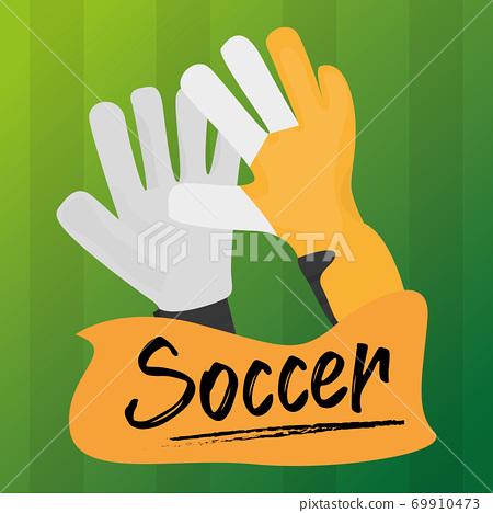 Soccer goalkeeper gloves 69910473