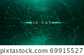 Technologic Background For Big Data Concept With Polygonal Lines And Dots Sphere 69915527