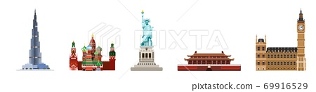 the main attractions of the world. from Asia new 69916529