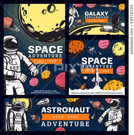 Astronaut space adventure cosmonaut in outer space 69918588